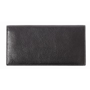 Johnston & Murphy Checkbook Cover; Black Tumbled