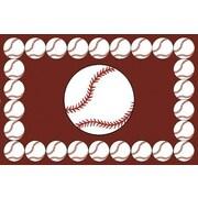 Fun Rugs Fun Time Baseball Time Brown Area Rug; 3'3'' x 4'10''
