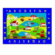 Kids World Farm Village Area Rug; 3'3'' x 4'8''