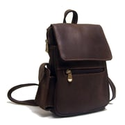 Le Donne Leather Distressed Leather Women's Backpack; Chocolate