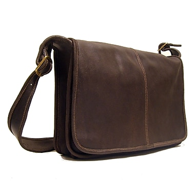 Le Donne Leather Messenger Bag; Chocolate