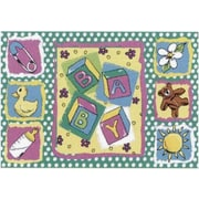 Fun Rugs Jade Reynolds Building Blocks Baby Kids Rug; 3'3'' x 4'10''