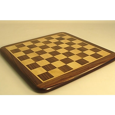 Pleasantime 15'' Rosewood / Maple Thick Veneer Chess Board
