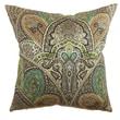 The Pillow Collection La Ceiba Paisley Cotton Pillow; Emerald