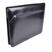 Royce Leather Zippered iPad Writing Folio