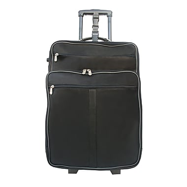 Piel 22'' Wheeler with Top Pocket and Laptop Compartment Carry On; Black w/ Grey trim - CLOSEOUT!