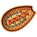Polish Pottery Spoon Rest - Pattern DU70