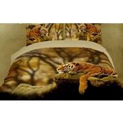 Dolce Mela Dolce Mela Lonely Tiger 6 Piece Duvet Cover Set; King