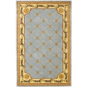 KAS Rugs Jewel Wedgewood Blue Fleur-De-Lis Outdoor Area Rug; Runner 2'6'' x 10'