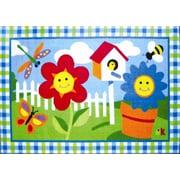 Fun Rugs Olive Kids Happy Flowers Area Rug; 1'7'' x 2'5''