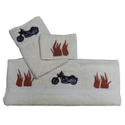 Patch Magic Motor Cycle 3 Piece Towel Set (Set of 3)