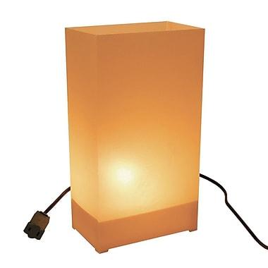 Luminarias 10.5'' H Electric Luminary Kit; Tan/Kraft