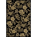 Central Oriental Interlude Juniper Black Rug; 5' x 7'6''