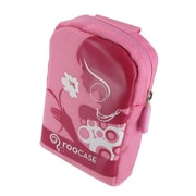 rooCASE Fashion Nylon Padded Carrying Case; Flower Lady Pink