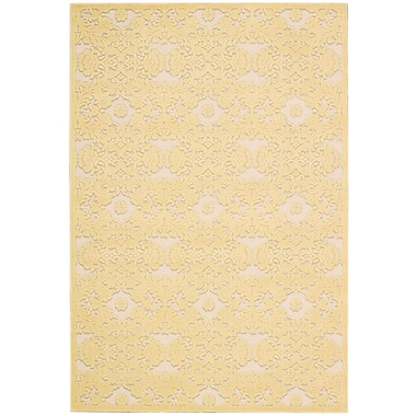 Nourison Graphic Illusions Gold/Yellow Geometric Area Rug; 5'3'' x 7'5''