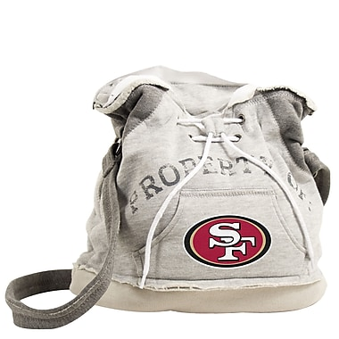 Little Earth NFL 16'' Hoodie Travel Duffel; San Francisco 49ers