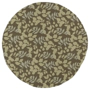 Kaleen Home & Porch Wymberly Coffee Indoor/Outdoor Area Rug; Round 7'9''