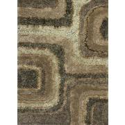 KAS Rugs Optic Textures Brown Area Rug; 3'3'' x 5'3''