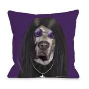 One Bella Casa Pets Rock Throw Pillow; 18'' x 18''