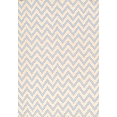 Pasargad Sahara Light Blue/Ivory Area Rug; 6' x 9'