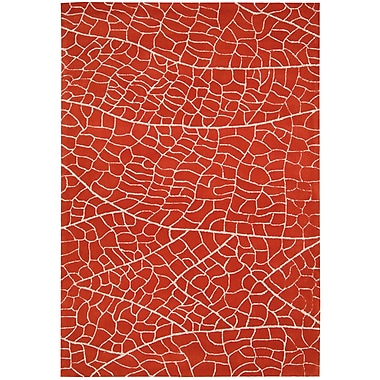 Nourison Escalade Flame Red Area Rug; 8' x 10'6''