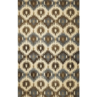 KAS Rugs Tapestry Ivory Allover Mosaic Area Rug; 8' x 10'6''