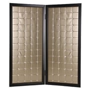 Screen Gems 72'' x 59'' Beau Monde Screen 2 Panel Room Divider