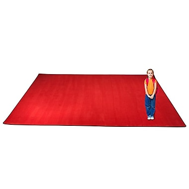 Kid Carpet KidTastic Cherry Red Area Rug; 6' x 9'