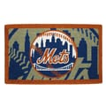 Team Sports America MLB Welcome Bleached Mat; New York Mets