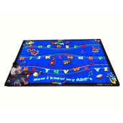 Kids World ABC Musical Song Blue Area Rug; 5' x 8'
