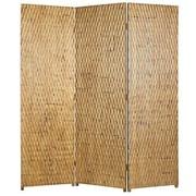 Screen Gems 74'' x 63'' Gilded Screen 3 Panel Room Divider