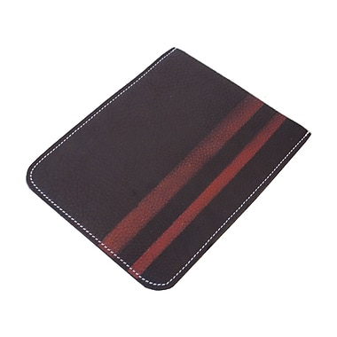 Mulholland Brothers High and Mighty iPad Sleeve; Dark Brown / Red Stripes