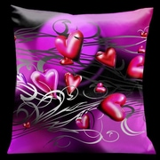 Lama Kasso Valentine Hearts Throw Pillow
