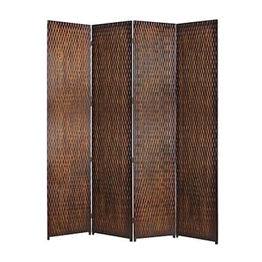 Screen Gems Danyl 84'' x 84'' 4 Panel Room Divider