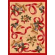 Milliken Winter Seasonal Holiday Bells and Bows Novelty Rug; 5'4'' x 7'8''