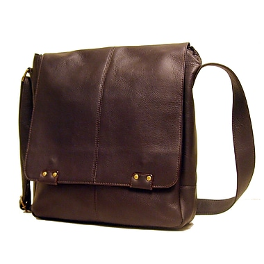 Le Donne Leather Messenger Bag; Caf