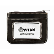 Winn International High Polished Cowhide Aniline ''Kabul'' Leather ID Holder II; Black