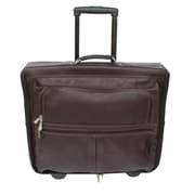 Piel Traveler Garment Bag; Chocolate