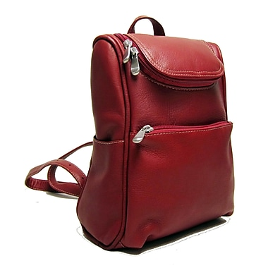 Le Donne Leather Women's Everyday Backpack; Red