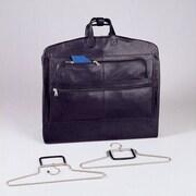 Winn International Napa Supple Cowhide Leather Garment Bag; Cognac