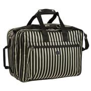 Sydney Love Stripe 13.75'' Convertible Carry On; Black / Khaki