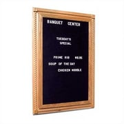 Marsh Executive Magnetic Reversible Bulletin Board/Whiteboard; 36'' H x 30'' W