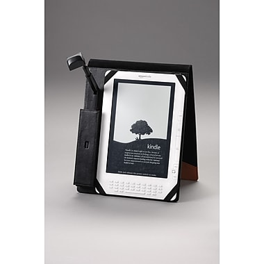 Periscope  Flip Case with Light for Kindle DX in Black/Tan