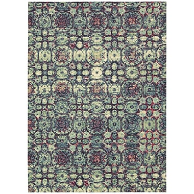 Nourison Vista Blue Area Rug; 5' x 7'