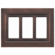 RQ Home Triple GFCI Magnetic Wall Plate; Oil Rubbed Bronze