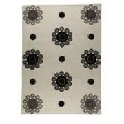Hokku Designs Como White/Grey Area Rug; 8' x 11'6''