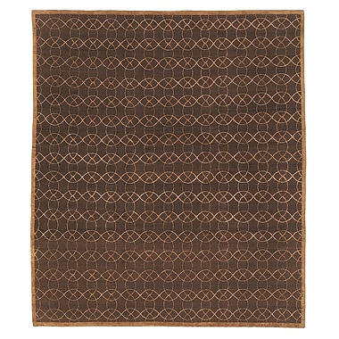 Artisan Carpets Designers' Reserve Dark Brown Area Rug; 3' x 5'