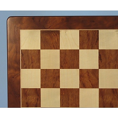 WorldWise Chess 15'' Padauk and Maple Veneer Chess Board