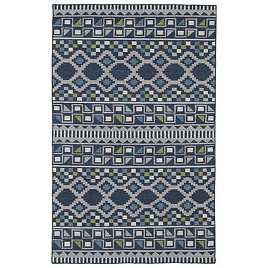 Kaleen Nomad Blue Geometric Area Rug; 3'6'' x 5'6''