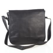 Aston Leather Messenger Bag; Black